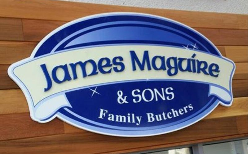Foamex Panel Sign with Raised Letters and Printed Graphics - Maguire's Butchers