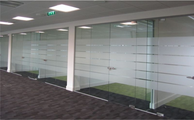 Etched Glass - Office Cubicles