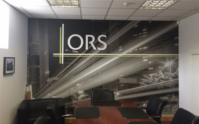 Printed Wall Wrap with Raised Letters - ORS