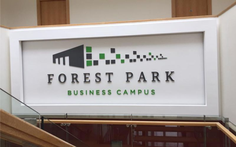 19mm and 10mm Foamex Raised Logo - Forest Park Business Campus