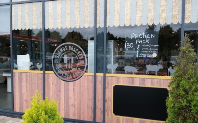 Printed Vinyl Window Graphics with Cut Frosted Graphics and Black Board Panel