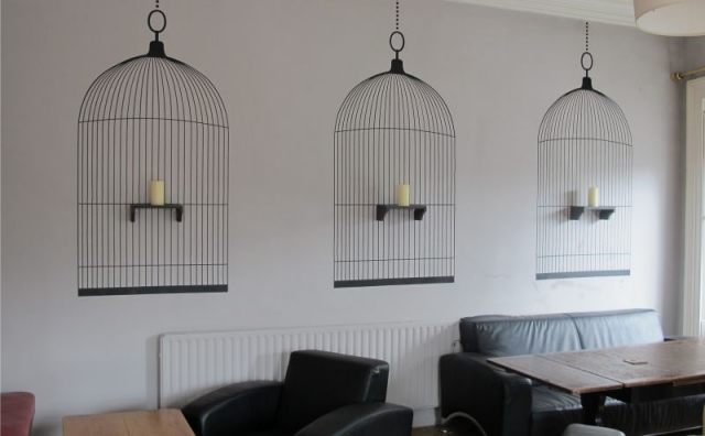 Cut Vinyl Wall Graphics with Shelves