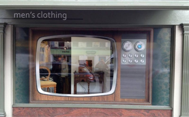 Temporary Printed Window Graphics - Foy's Menswear