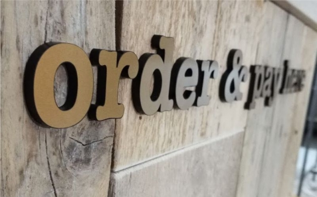 Laser Cut Acrylic Letters with Vinyl Detail