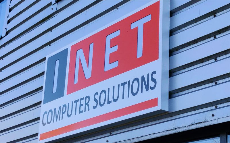 Fret Cut Light Box with Vinyl Graphics - Inet Computer Solutions