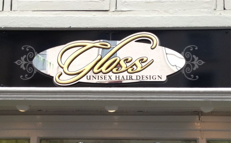Mirror Perspex Panel with Gilded Foamex Letters and Vinyl Graphics on Aluminium Composite - Gloss