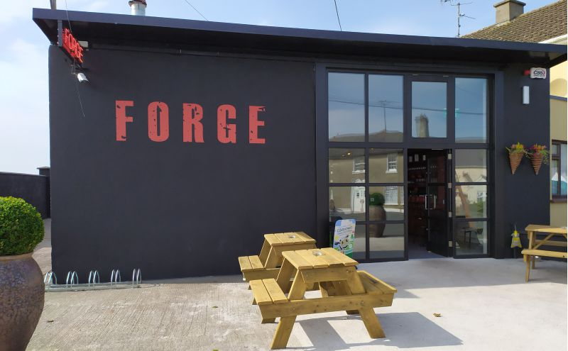 Exterior Vinyl Wall Graphic on Concrete Wall - Forge