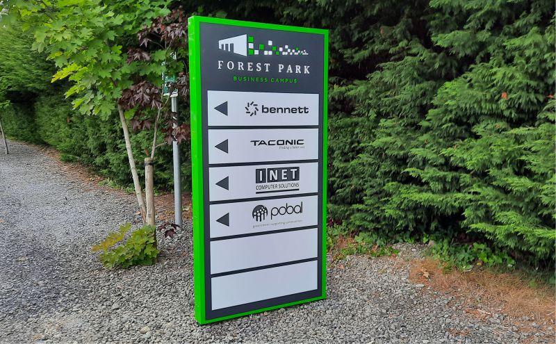 Mini Double Sided Totem - Way Finding Signage - Forest Park, Mullingar