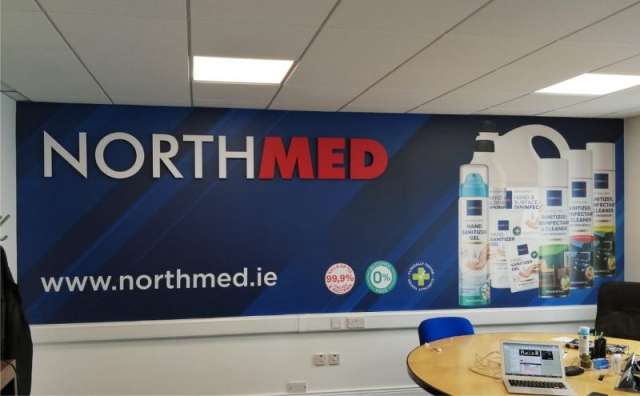 Printed Wall Graphics with Laser Cut Acrylic Letters - NorthMed