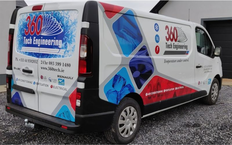 Partial Van Wrap - 360 Tech Engineering