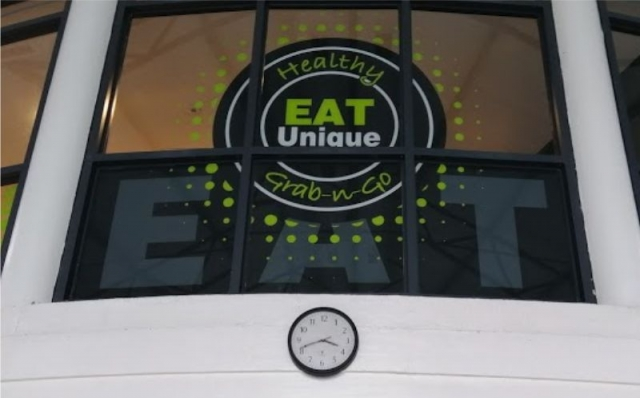 Print and Cut Internal Window Graphics - Eat Unique, Athlone