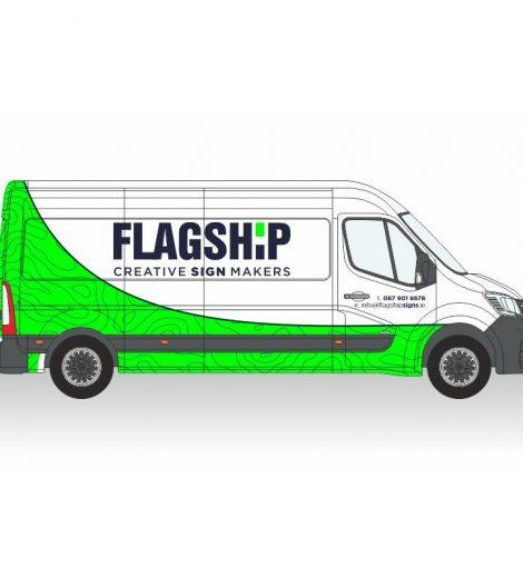 Large Van Partial Wrap